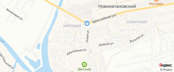 Новая улица на карте Новоначаловский поселка с номерами домов