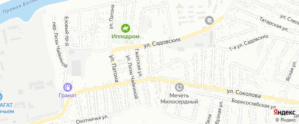 Улица Ю.Смирнова на карте Астрахани с номерами домов