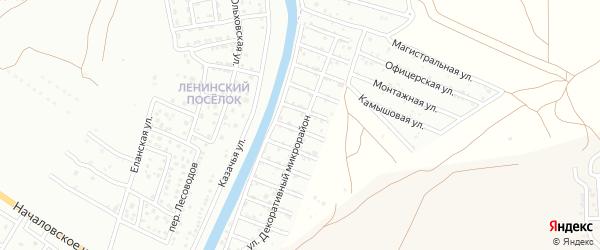 Территория сдт Декоратор на карте села Началово с номерами домов