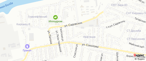 Приклубная улица на карте Астрахани с номерами домов