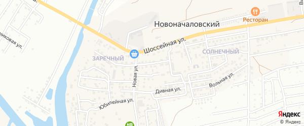 Дачная улица на карте Новоначаловский поселка с номерами домов