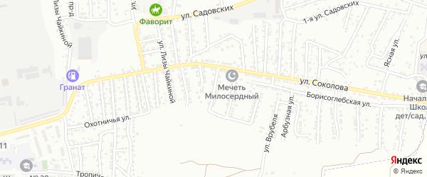 Спасская улица на карте Астрахани с номерами домов