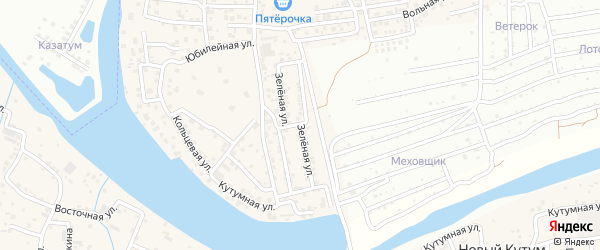 Зеленая улица на карте Новоначаловский поселка с номерами домов