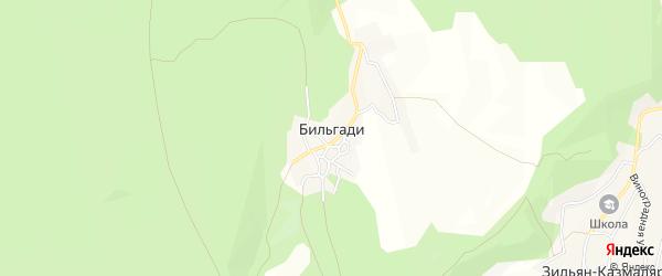 Карта села Бильгади в Дагестане с улицами и номерами домов