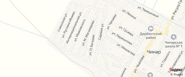 Батырая улица на карте села Чинара с номерами домов