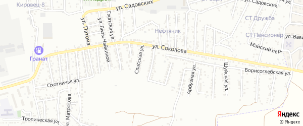 Спасская 1-я улица на карте Астрахани с номерами домов