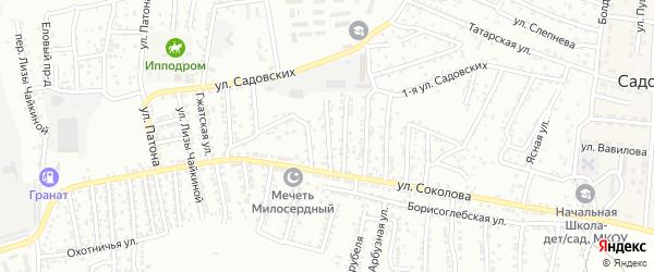 Соколова 1-й переулок на карте Астрахани с номерами домов