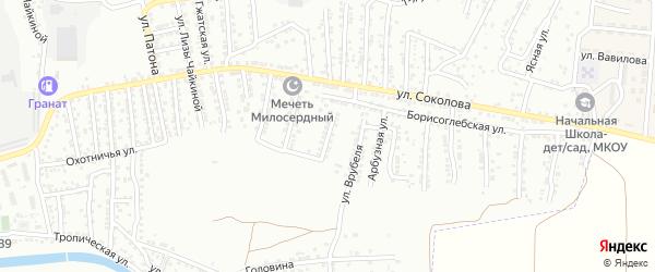 Казалинская улица на карте Астрахани с номерами домов