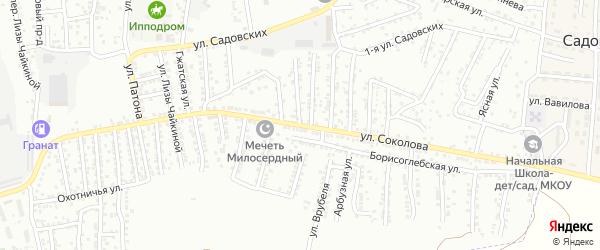 Улица Соколова на карте Астрахани с номерами домов