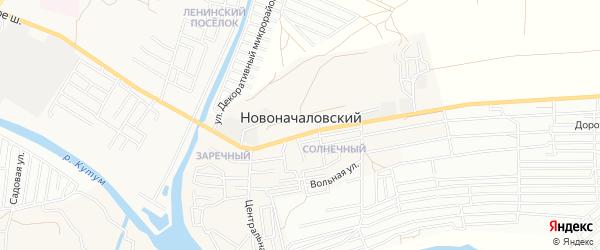 Карта Новоначаловский поселка в Астраханской области с улицами и номерами домов