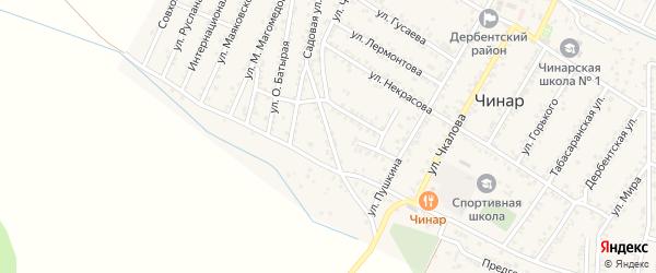 Садовая 2-я улица на карте села Чинара с номерами домов