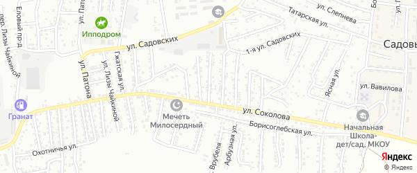 Соколова 2-й переулок на карте Астрахани с номерами домов