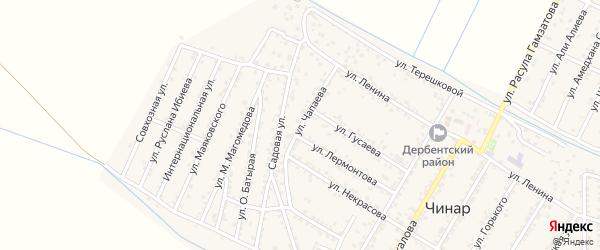 Улица Чапаева на карте села Чинара с номерами домов