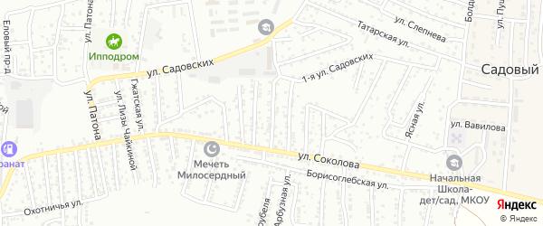 Соколова 3-й переулок на карте Астрахани с номерами домов