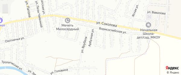 Арбузная улица на карте Астрахани с номерами домов