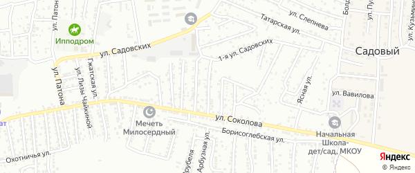 Соколова 4-й переулок на карте Астрахани с номерами домов