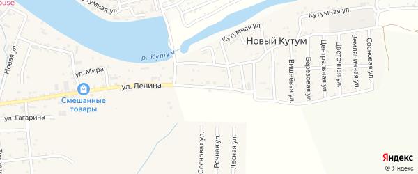 Улица им В.Хабаровой на карте поселка Нового Кутума с номерами домов