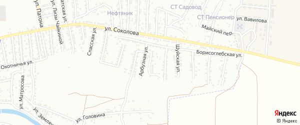Улица Кипренского на карте Астрахани с номерами домов