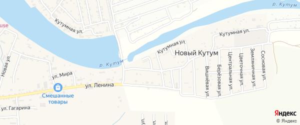 Колхозная улица на карте поселка Нового Кутума с номерами домов