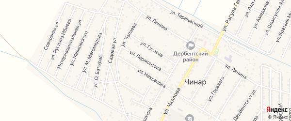 Улица Лермонтова на карте села Чинара с номерами домов
