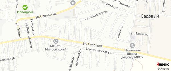 Соколова 5-й переулок на карте Астрахани с номерами домов