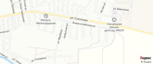 Баутинская улица на карте Астрахани с номерами домов
