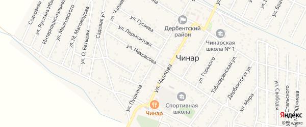 Улица Пушкина на карте села Чинара с номерами домов