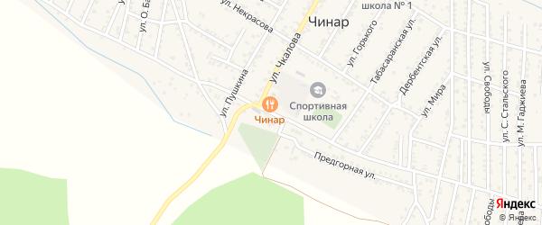 Улица Гагарина на карте села Чинара с номерами домов