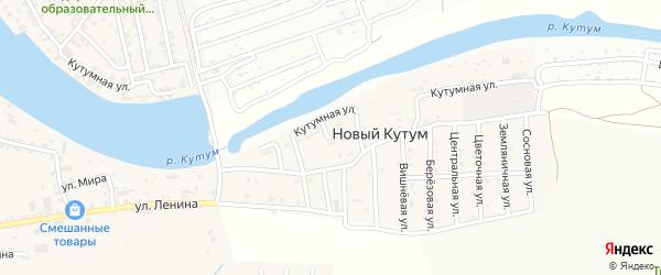 Речная улица на карте поселка Нового Кутума с номерами домов