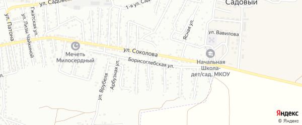 Борисоглебская улица на карте Астрахани с номерами домов
