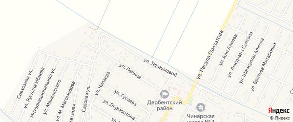 Улица Терешковой на карте села Чинара с номерами домов