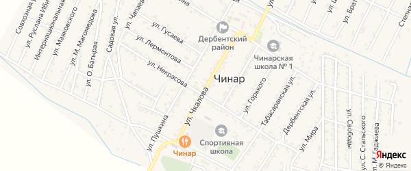 Улица Чкалова на карте села Чинара с номерами домов