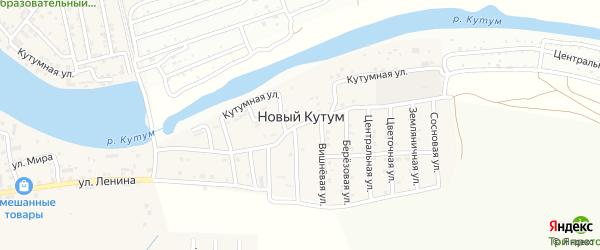 Сосновая улица на карте поселка Нового Кутума с номерами домов