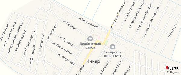 Улица Ленина на карте села Чинара с номерами домов
