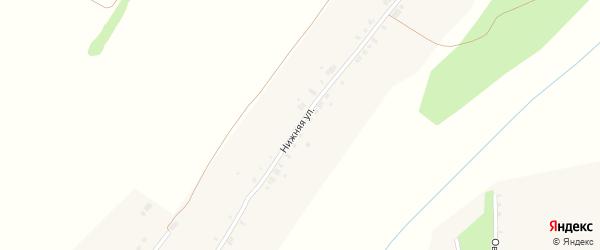 Нижняя улица на карте деревни Солдыбаево с номерами домов