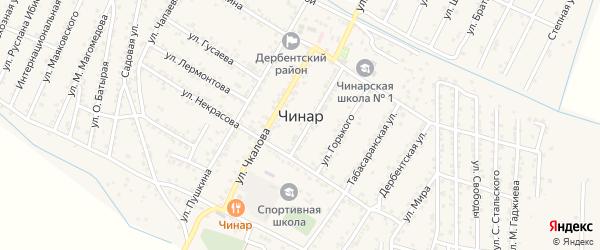 Улица Серегина на карте села Чинара с номерами домов