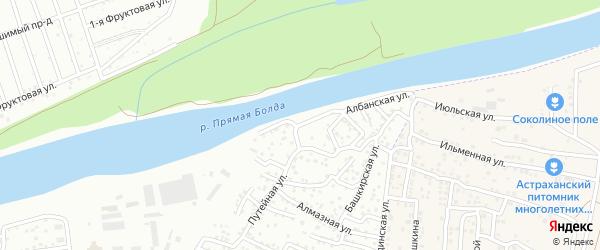 Прикаспийская улица на карте Астрахани с номерами домов