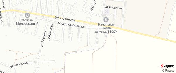 Борисоглебский 2-й переулок на карте Астрахани с номерами домов