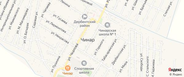 Улица Ломоносова на карте села Чинара с номерами домов