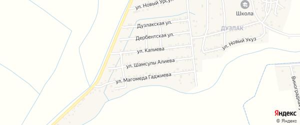Улица Алиева на карте поселка Мамедкалы с номерами домов