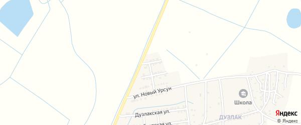 Улица Дружбы на карте поселка Мамедкалы с номерами домов