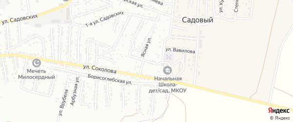 Майский переулок на карте Астрахани с номерами домов