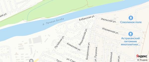 Улица Ширшова на карте Астрахани с номерами домов
