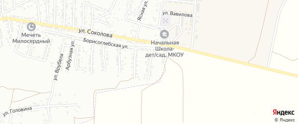 Борисоглебский 3-й переулок на карте Астрахани с номерами домов