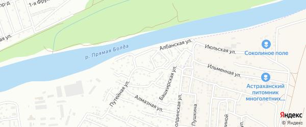 Улица Эйзенштейна на карте Астрахани с номерами домов