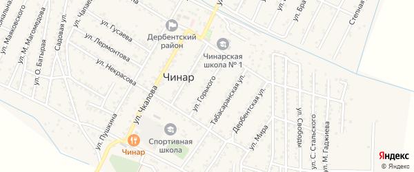 Улица М.Горького на карте села Чинара с номерами домов