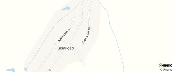 Советская улица на карте деревни Казаково с номерами домов