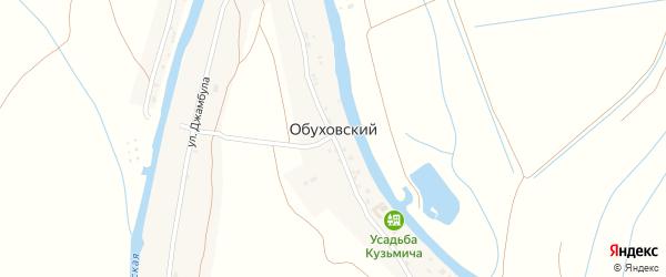 Улица Джамбула на карте Обуховского поселка с номерами домов