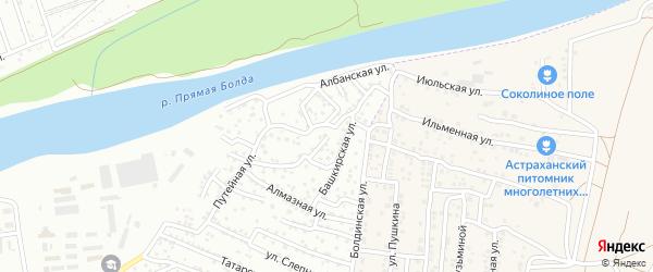 Улица Шопена на карте Астрахани с номерами домов