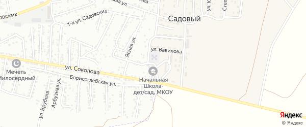 Школьная улица на карте Садового поселка с номерами домов